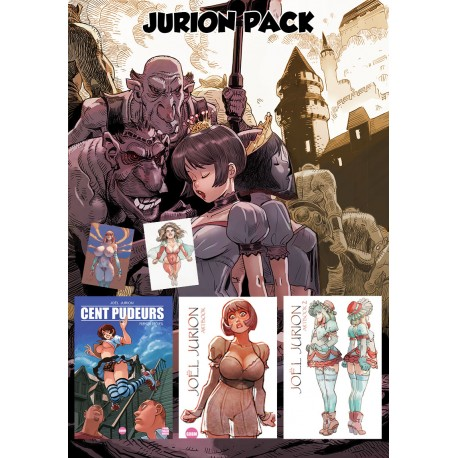 Pack Jurion / cent pudeurs + 2 artbook